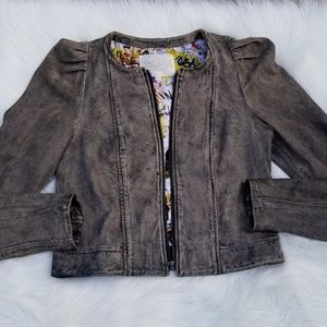Rachel Roy Genuine Leather Jacket Sz Medium